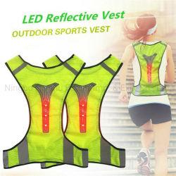 3PCS Vest van het Vest van de LEIDENE het Lichte Veiligheid van de Weg Weerspiegelende voor het Cirkelen van de Nacht het Lopen en de Kleding Adjustabdle van de Veiligheid van de Motorfiets