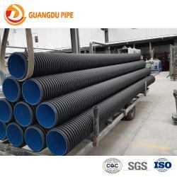 De HDPE tubos de papelão ondulado de parede dupla para sistema de esgotos
