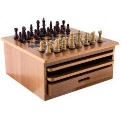 10 en 1 juegos de tablero de ajedrez de madera deslizar las Damas de la unidad de la casa establecer