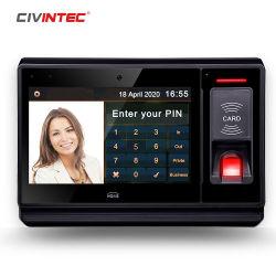 """Écran tactile 7"""" Android Tablet avec lecteur RFID Temps système biométrique de la fréquentation et de la batterie de la caméra intégrée"""