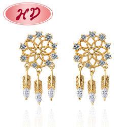 Einfaches Design Tägliche Kleidung Blumen Geformte Diamant Ohrstecker Frauen, Kubische Zirkonia Schmuck