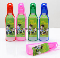 Portátil de plástico Botella de agua de perro mascota de viaje en el exterior del Alimentador de Agua Potable