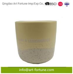 Желтый цвет поверхности многослойных глазури керамические ароматические свечи для интерьера