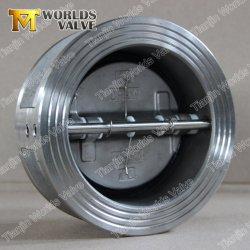 Het roestvrij staal CF8/CF8m goot de de Kneedbare Dubbele Plaat van de Schijf van de Vlinder van het Type van Wafeltje van het Ijzer Duplex Dubbele/Klep van de Controle van de Schommeling van de Klep voor Pn10/Pn16 of 10K/16K Class150 150lb