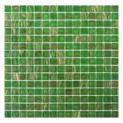 緑のGoldline 1cmの形の芸術の壁のためのガラスモザイク・タイル