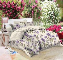 Großhandel Mikrofaser Tröster Bettwäsche Set Queen Size Heim Textil Tröster Bedruckter Bettwäscheset Bettbezug