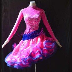Usura di ballo delle donne, vestito latino, vestito da Chacha di Rumba della samba di tango del vestito dalla salsa, vestito da ballo delle donne
