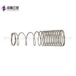 Het Zink die van de vorm de spiraalvormige Lente voor de Mechanische Lente van de Compressie van Delen plateren