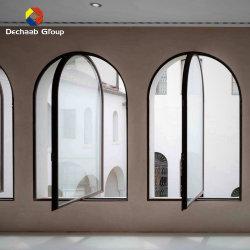 Arco de alumínio à prova de pó de janelas com vidro duplo