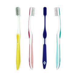 Kundenspezifisches Firmenzeichen-Spirale-Draht-Zehntausend-Borste-Arbeitsweg-Ausgangserwachsenes Zahnbürste-Plastikset