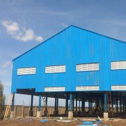 Calidad barato Prefabricados estructura de acero almacén de luz edificio Pre-diseñado Construcción Industrial