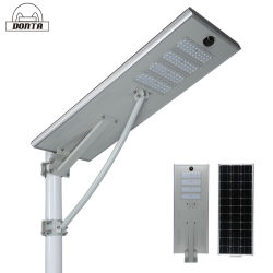 Liste de prix fabricant solaire Imperméable à l'extérieur du capteur de mouvement intégré tous les feux de route dans un seul voyant rue lumière solaire 60W 80W