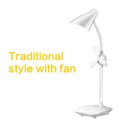 배럴 형태 회전 가능한 USB 충전식 LED 데스크 램프에는 팬, 스터디 램프, 독서등, 테이블 램프가 있습니다