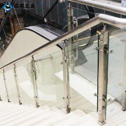 Inferriata di vetro decorativa dell'acciaio inossidabile di sicurezza per le aste della ringhiera della scala