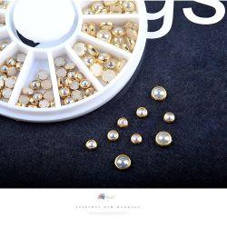 Nagel-Schönheits-Nagel-Aufkleber-Kristallsteinfunkeln-Perlen