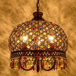 Tiffany 3 Lustre Lâmpada Pendente para luz de tecto para decoração (WH-TF-20)