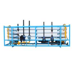 El tratamiento de aguas Osmosis Inversa 35t/h de la máquina de filtro de agua de mar la desalación de agua salada al agua potable con tanque de presión portátil