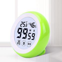 Memória digital Despertador com termómetro de retorno magnético higrómetro
