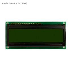 Piccolo modulo giallo verde 1602 dell'affissione a cristalli liquidi dello schermo 16X2 dell'interfaccia parallela del carattere