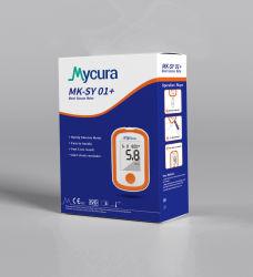 Star Product Mycura produce 5 secondi di kit per glucometro - misuratore, strisce, dispositivo di lancette e lancette