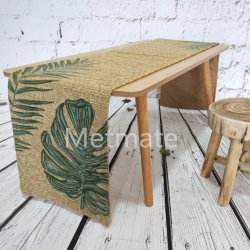 A decoração de estilo nórdico de alta qualidade da mola de Jantar Roupa de mesa foliar Runner