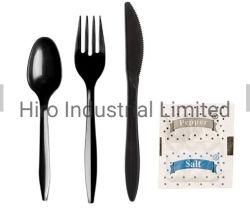 La horquilla de cuchilla de servilleta de cuchara de sal Pimienta utensilios desechables de plástico, utensilios desechables, conjuntos de utensilio