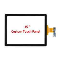 ODM OEM personalizados 15 Polegadas Pcap Capacitivo Vários 4: 3 tela de painel táctil com moldura fina AG Vidro Leve Interface USB para colagem de óptica de ar módulo LCD