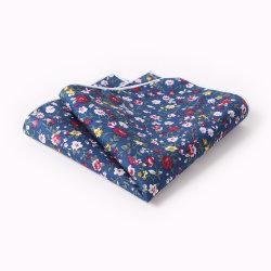 Herrenmode Baumwolle bedruckte Taschentücher Floral Pocket Squares Handmade verschiedene Designs anpassbare benutzerdefinierte mit Logo