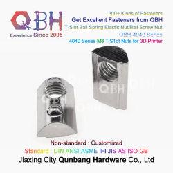 Qbh M8 rasgo T Escatelar ranhurado T-Slot de Esferas elásticos de porcas de parafuso 3D impresso da impressora imprimindo a substituição de máquinas eléctricas Substituir Reabasteça Acessórios sobressalentes