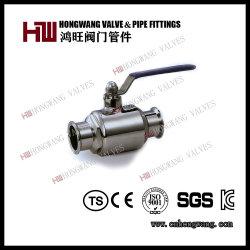 Acero Inoxidable Sanitario Manual Abrazadera Válvula de Bola Recta Tratamiento de Agua (HW-BV 4001)