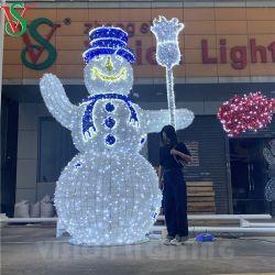 Indicatore luminoso di natale esterno del pupazzo di neve di motivo della decorazione LED 3D di nuova festa di arrivo