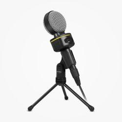 Настольный микрофон с регулятор громкости для портативных ПК записи с использованием компьютера съемный провод с разъемом 3,5 мм
