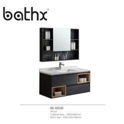 Mobilier de style populaire La conception personnalisée de gros de luxe moderne salle de bains en bois solide étanche armoire avec bassin de lavage