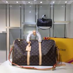 최고급 정품 가죽 L V 점보 여행 숄더 백