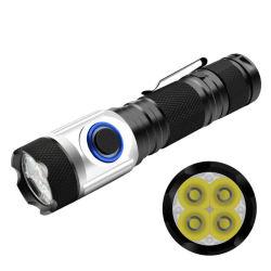 4 * Светодиодный индикатор Xpg Multi-Functional аккумулятор USB тактических мини-фонарик