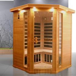Grosse Kreuzspulmaschine-Schierling-Sauna mit Kohlenstoff-Heizung und Fuss-Heizung