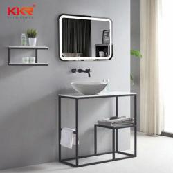 Badezimmer-Ware-Spiegel-Regal-Schrank-Stein-Eitelkeits-Wannen-Set