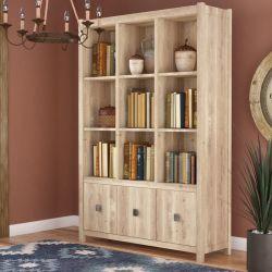 生きているオフィス部屋のためのホーム家具のLintelのカシの終わりの木製のオフィスの立方体の単位の標準本箱