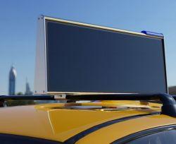 Pleine couleur 4G/WiFi/GPS haut de Taxi P2.5 écran LED de publicité mobile