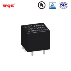 Un doble relé subminiatura de 14VCC Rele de 25 a 14 voltios relé automático para el automóvil