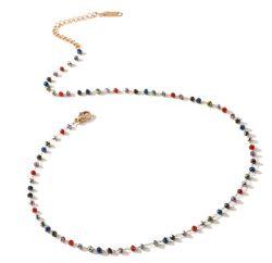 [هندمد] متعدّد لون بلّوريّة عقد البوهيمي أسلوب مجوهرات [مينيمليست] أنثى [فشيون كّسّوري]
