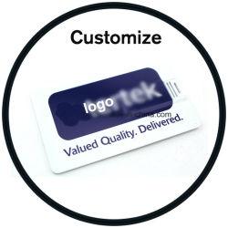 Cartão de visitas impresso personalizado unidade Flash USB