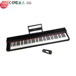 Teclas 88 portátil Teclado de toque padrão usado para venda electrónica MIDI Piano Digital