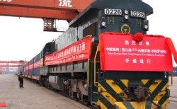 L'UPS trasporta i motorini elettrici sulla ferrovia dell'europeo della Cina-Polonia