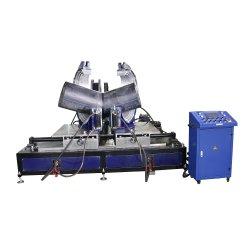 630-1200mm 90 도 45 정도 팔꿈치 티 십자가 HDPE 이음쇠 제작 용접 기계