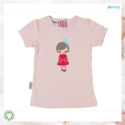 有機性綿の赤ん坊は赤ん坊のTシャツのための水印刷の子供の衣服に着せる