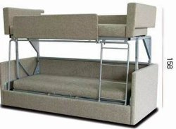 生きている家具の折るソファーの二段ベッド