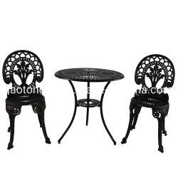 3 Материал из литого алюминия для использования вне помещений бистро таблице стульями, патио с видом на сад ресторанов,