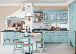 La Coutume de meubles de cuisine de style classique en bois massif des armoires de cuisine