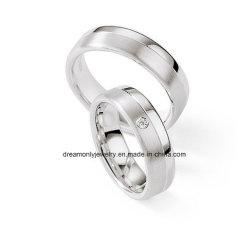 2017 de Recentste Fijne Zilveren Ringen van het Huwelijk, Minnaar 925 Echte Zilveren Ring met Diamant, de Witte Ronde Ring van het Zirkoon